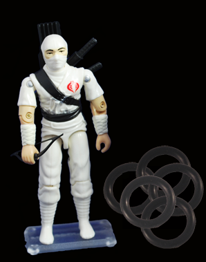 G.I. Joe Supplies - Stands - cases - O-Ring's