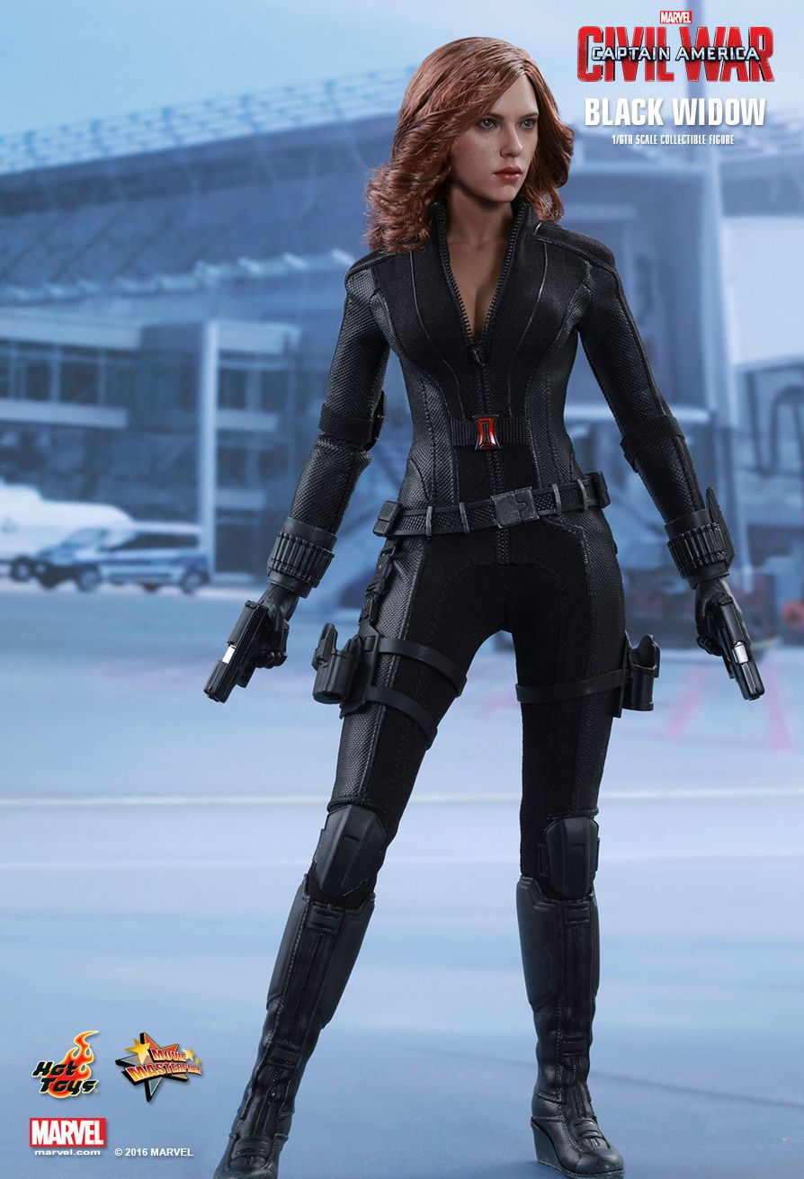 Black Widow Sixth Scale Figure by Hot Toys Captain America ...
